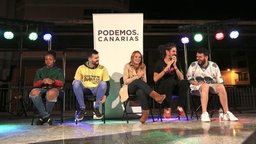Batalla de gallos organizada por Podemos Canarias