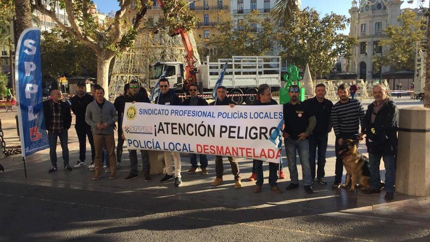 Agentes de la Policía Local protestan por la falta de efectivos