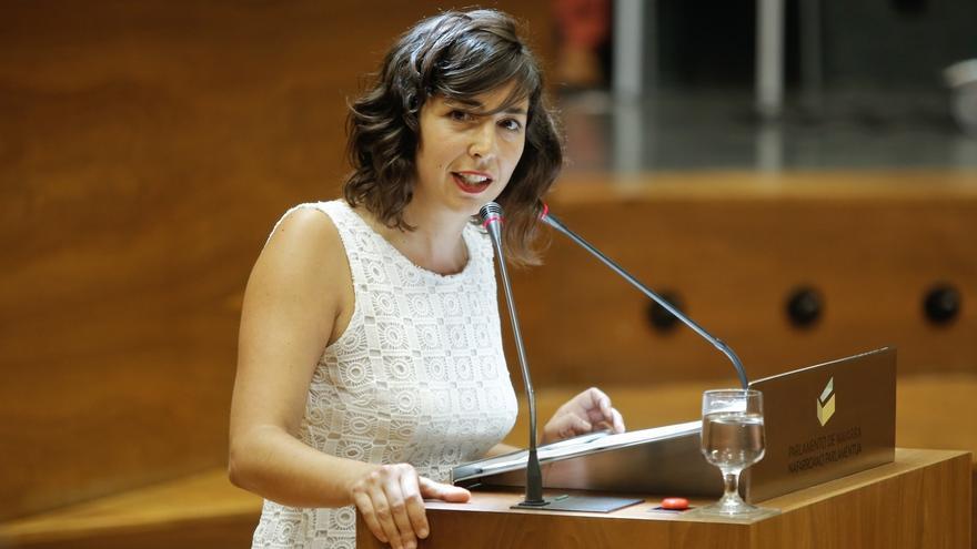 """Laura Pérez ofrece el """"beneficio de la duda"""" al Gobierno foral y le recordará """"constantemente"""" el acuerdo programático"""