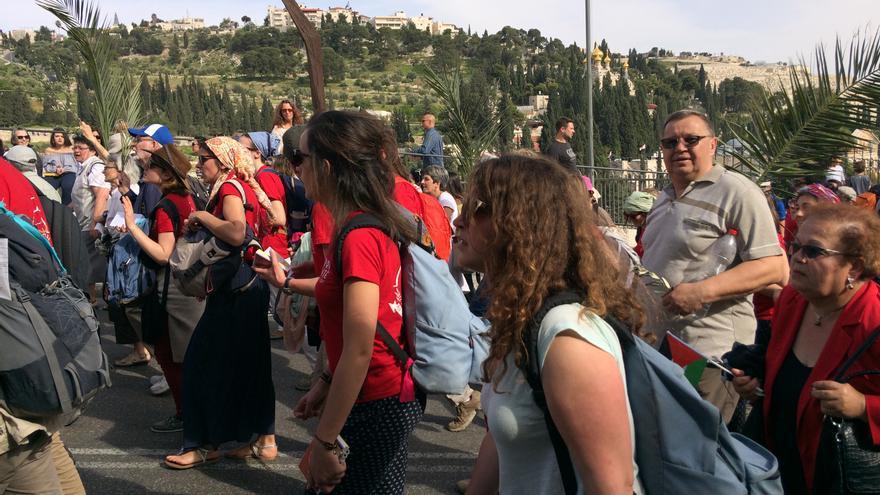 Domingo de Ramos en Jerusalén. Semana Santa 2017.
