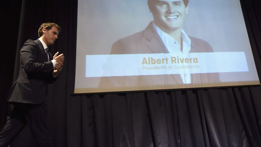 Albert Rivera, durante la presentación del programa económico de Ciudadanos, en febrero pasado en Madrid. / GSR / G3online