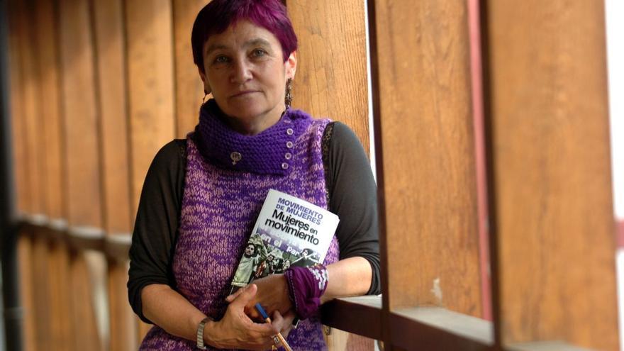 La integrante de la Asamblea por el derecho al aborto de Navarra, Begoña Zabala.
