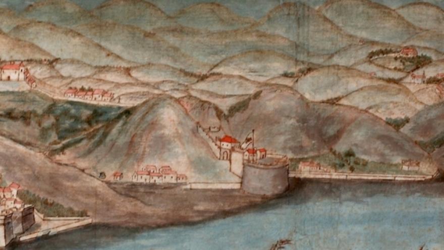 Ilustración de la zona de la intervención de Civitas Palmaria.