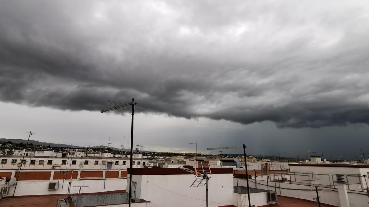 La tormenta sobre Córdoba