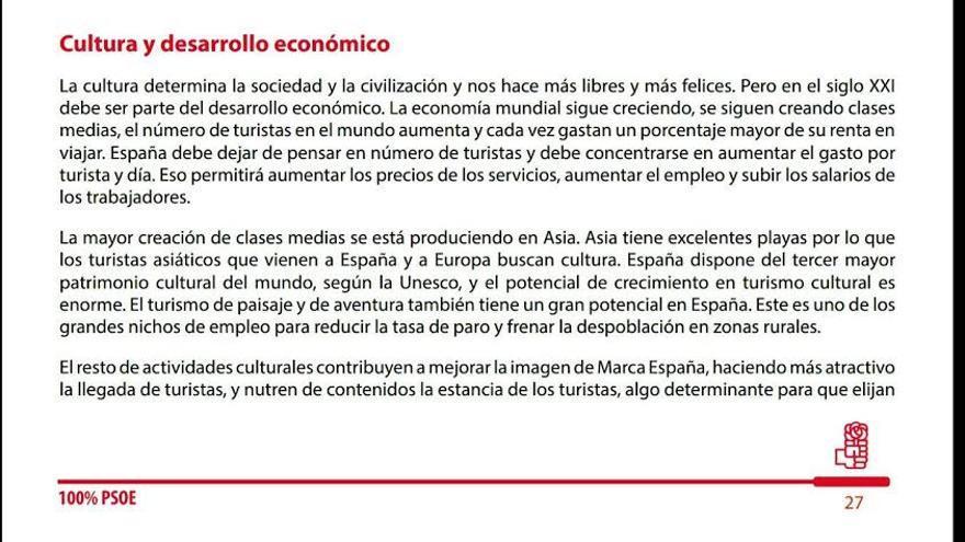 Propuesta de cultura del programa de Susana Díaz