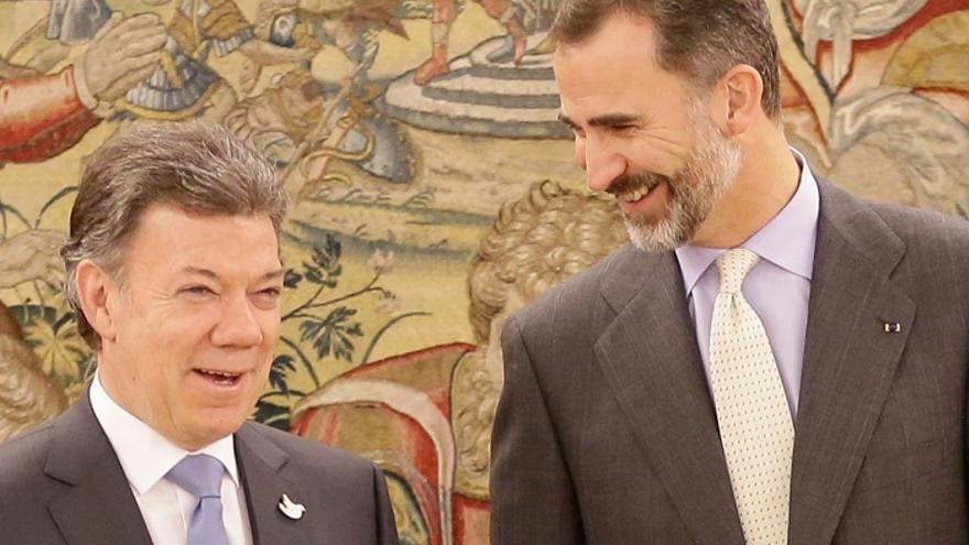 Santos iniciará mañana en Madrid una visita de Estado para afianzar el apoyo de España al proceso de paz en Colombia