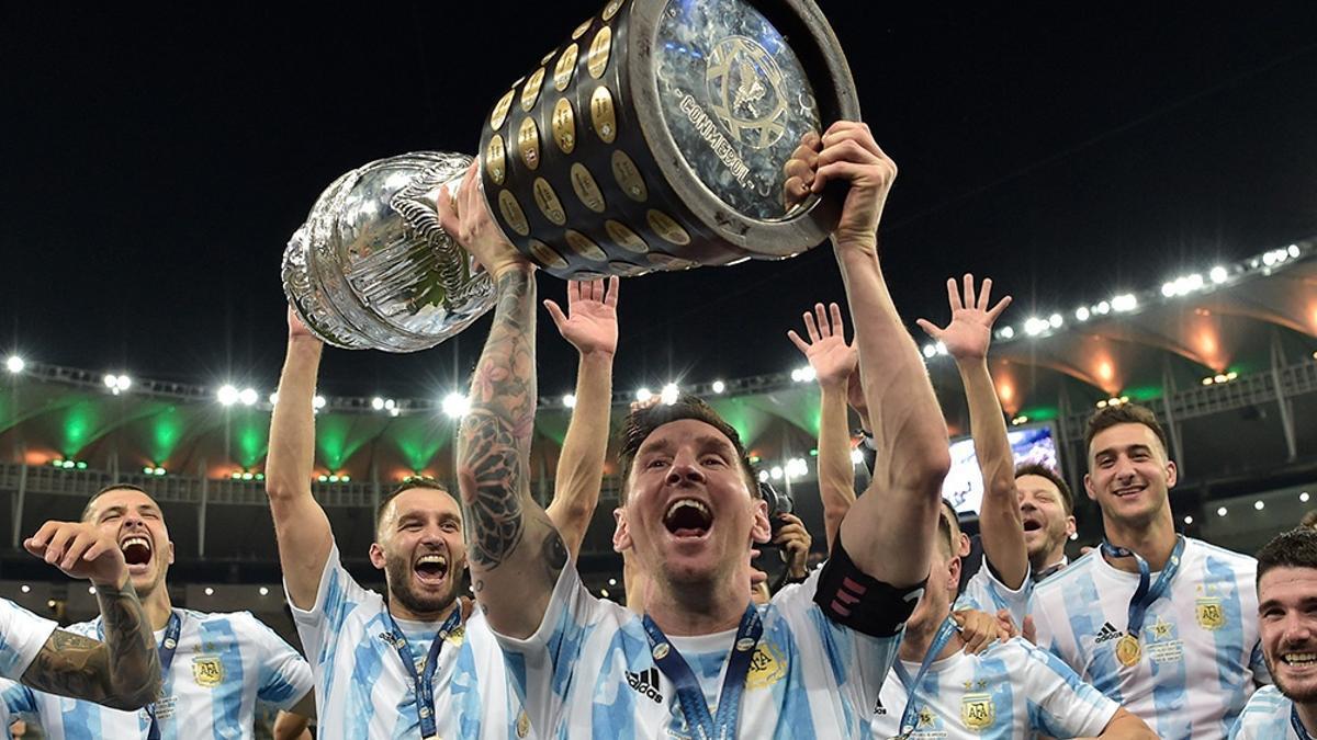 Argentina se coronó campeón de América en julio de 2021.