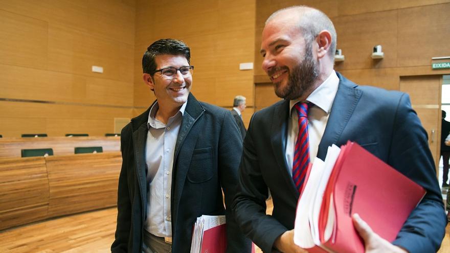 Jorge Rodríguez, president de la Diputació de València, i Toni Gaspar, diputat d'Hisenda