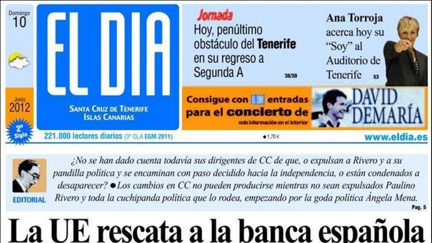 De las portadas del día (10/06/2012) #9