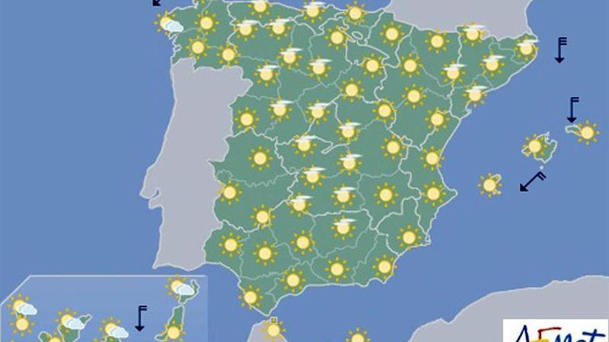 Las temperaturas volverán a subir hoy