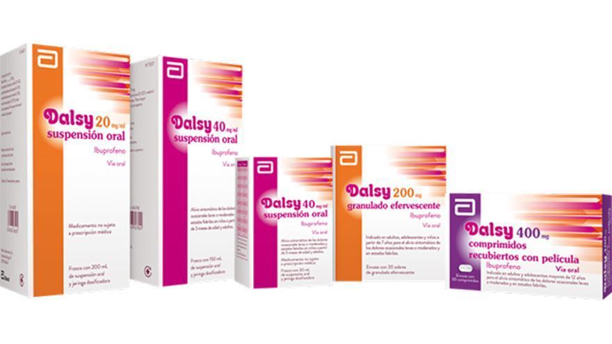 El jarabe de la polémica es el ibuprofeno Dalsy 20 mg/ml suspensión oral