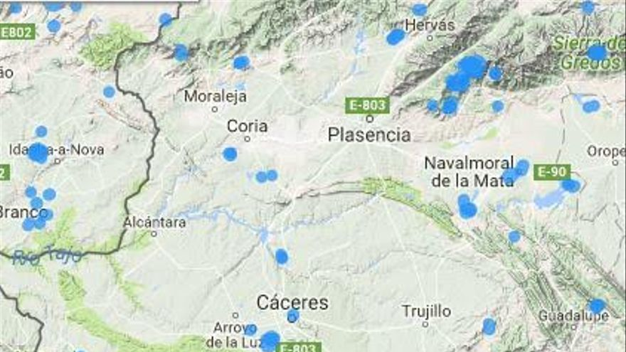 mapa incendios Extremadura