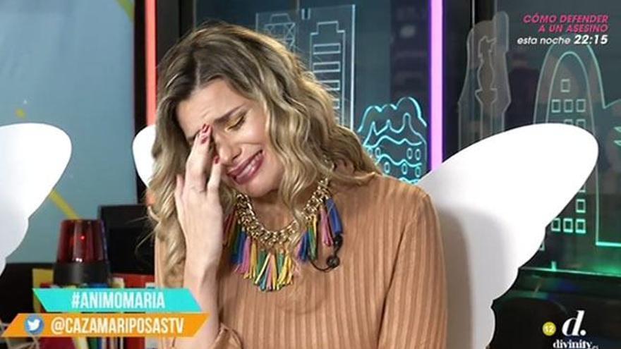 María Lapiedra llora en 'Cazamariposas': 'Jorge Javier me hizo mucho daño en 'Deluxe''