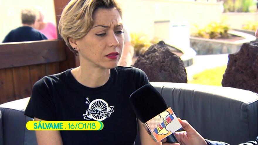 Fayna Bethencourt en una intervención previa en 'Sálvame'
