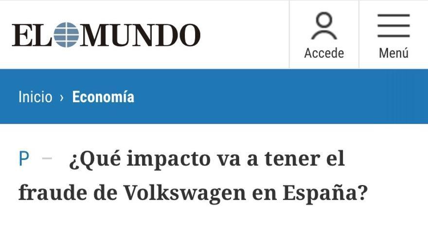 Comentario en el periódico El Mundo.