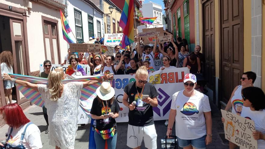 La marcha de celebró en un gran ambiente festivo.