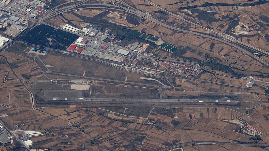 Vista aérea del aeropuerto de Burgos / Javier Ortega Figueiral