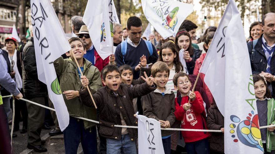 A la manifestación que ha recorrido las calles de Madrid han asistido muchas familias numerosas. \ Juan Ramón Robles