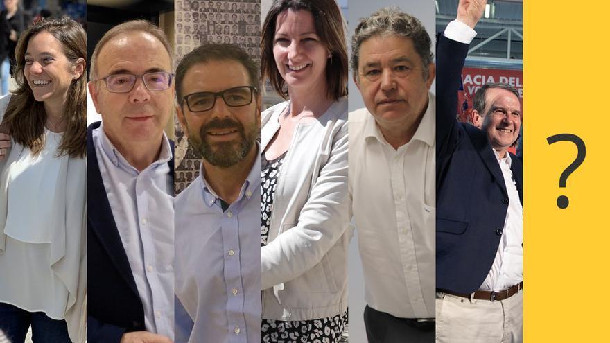 Inés Rey, Xosé Sánchez Bugallo, Ángel Mato, Lara Méndez, Miguel Anxo Fernández Lores y Abel Caballero serán investidos este sábado mientras la incógnita permanece en Ourense