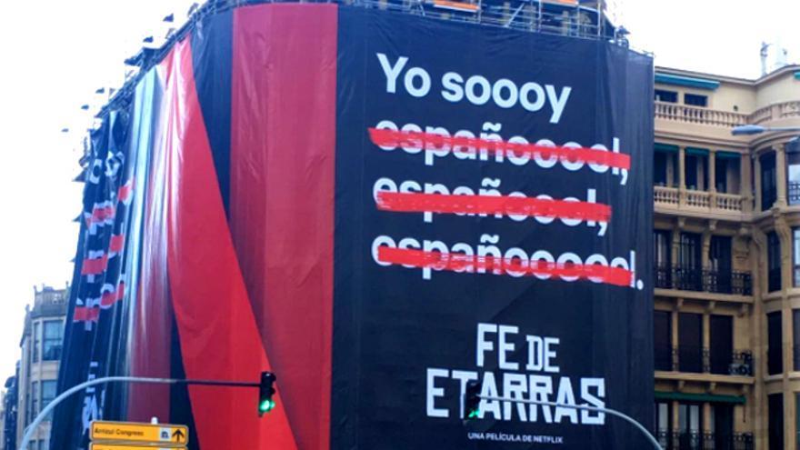 Cartel promocional de Fe de etarras, la segunda película original española de Netflix