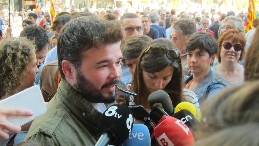 """Rufián (ERC): """"No pediremos permiso nunca más al Estado español"""""""