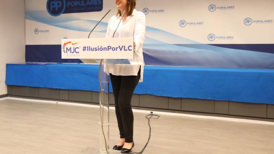La candidata a la alcaldía de València por el PP, María José Catalá