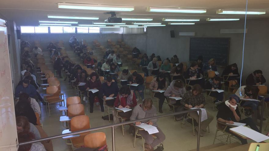 En la imagen, inicio de las pruebas este domingo.