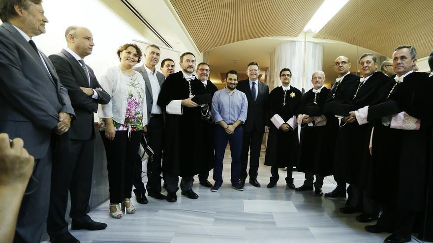 Ximo Puig y el conseller Vicent Marzà en la UPV de Alcoy, en la inauguración del curso universitario.