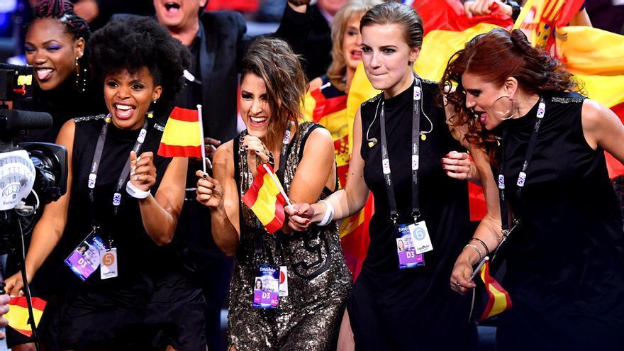 Barei y sus coristas en Eurovisión 2016
