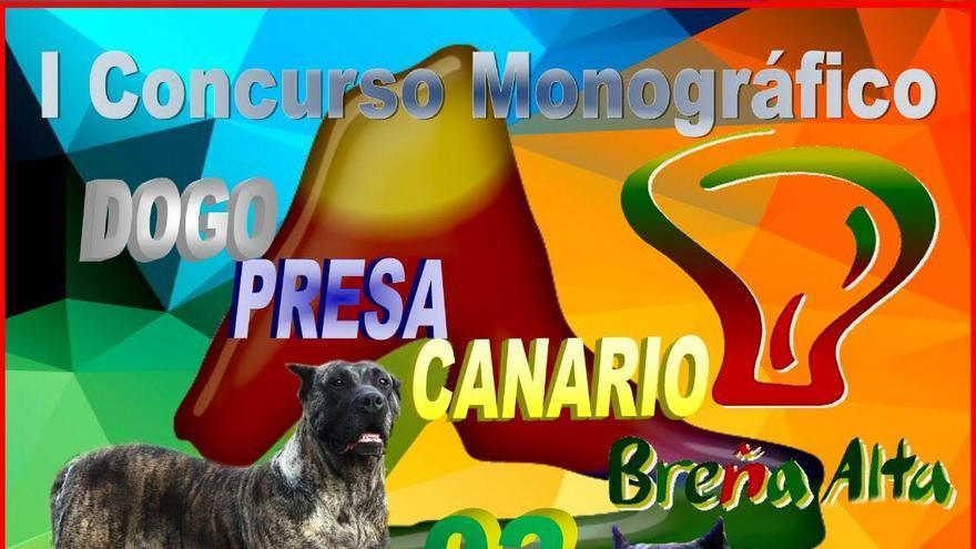 Cartel del 'I Concurso de Dogo Presa Canario'.
