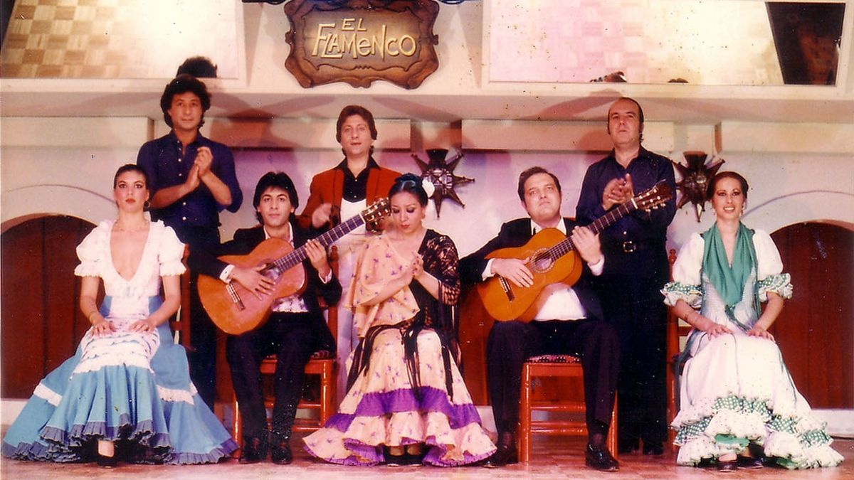 Imagen de archivo de una compañía de flamenco en Japón