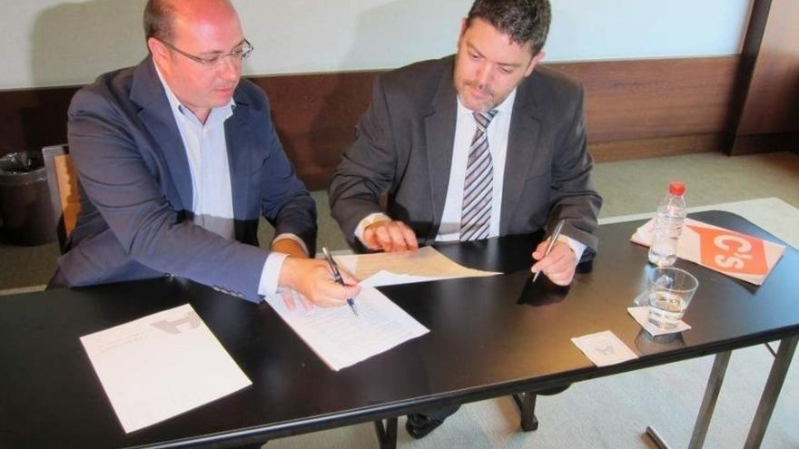 El presidente de Murcia y el portavoz de Ciudadanos se reunirán este jueves en Cartagena