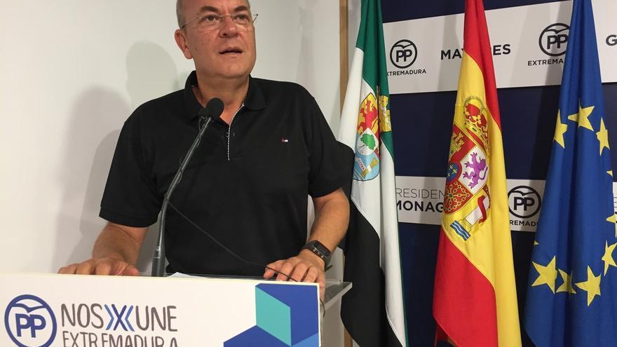 Monago (PP) reitera que para hablar de presupuestos de Extremadura antes se debe reunir a la comisión de seguimiento