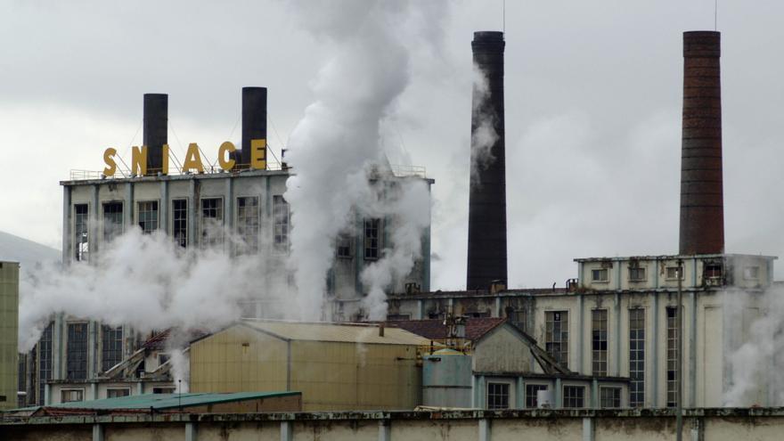 La factoría de Sniace en Torrelavega