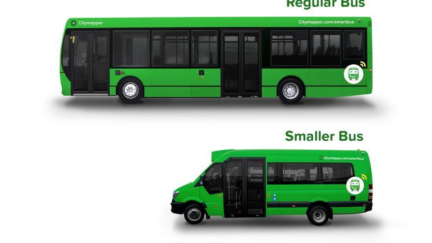 Los dos tipos de autobús que piensa poner en circulación Citymapper