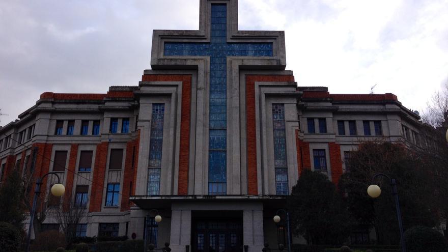 El Seminario de Pamplona, uno de los edificios diseñados por Víctor Eúsa.
