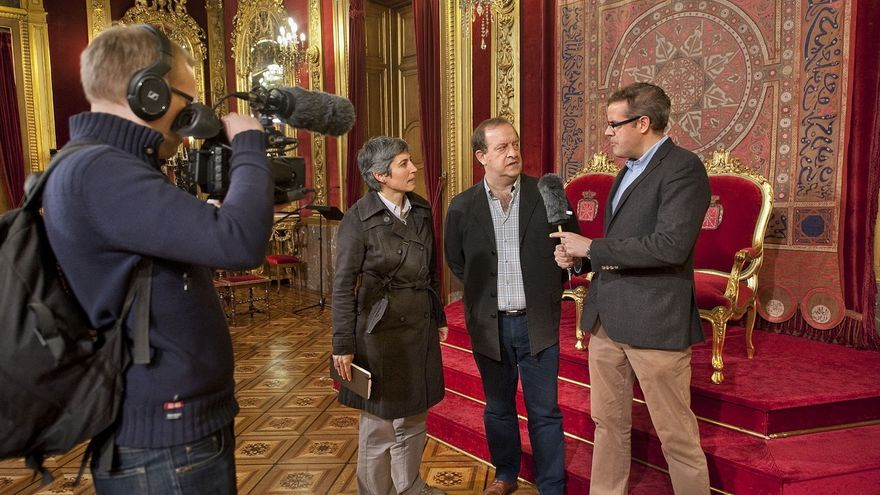 Un experto finlandés recaba en Navarra información sobre el euskera para una serie documental