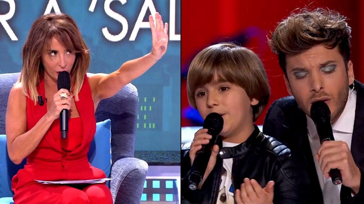 María Patiño en 'Viernes Deluxe' / Blas Cantó en 'La Voz Kids'