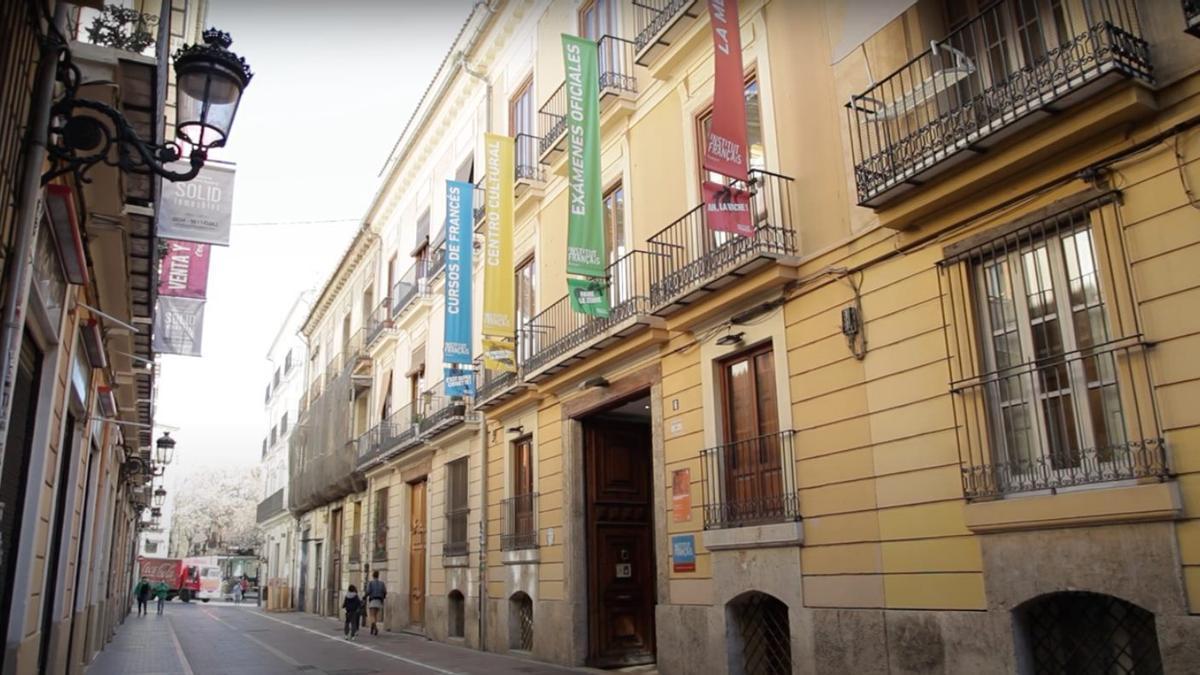 Seu de l'Institut Français de València al barri del Carme.