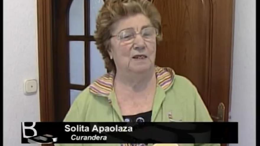 La curandera Soledad Apaolaza, en televisión