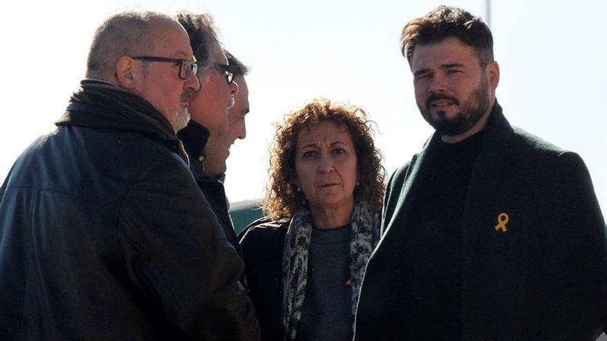 Tardá, Rufián y Capella se desplazan a Estremera para apoyar a Junqueras