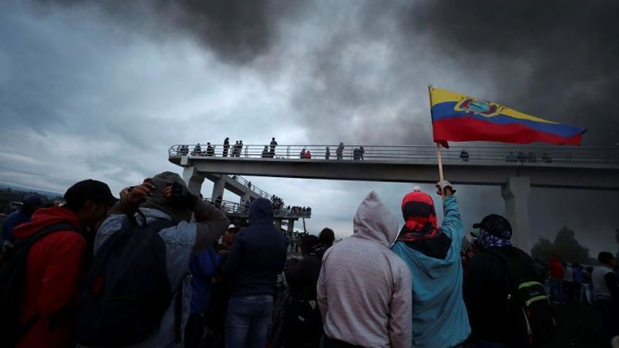 Cerca de medio millar de detenidos durante los disturbios en Ecuador