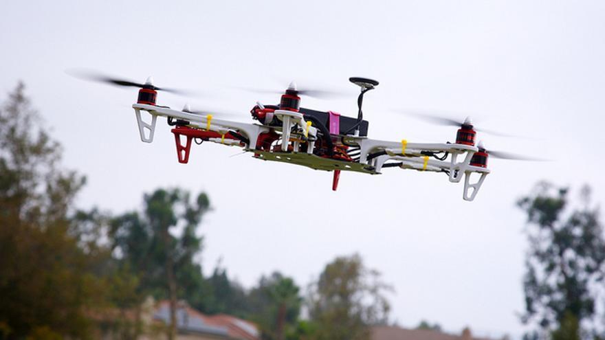 Un dron de entrega de Amazon