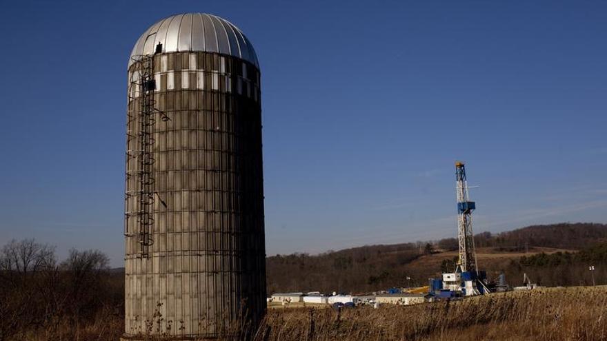 Un sistema de extracción de gas mediante fracking instalado en Bradford County (Pennsylvania) / Foto: Greenpeace.