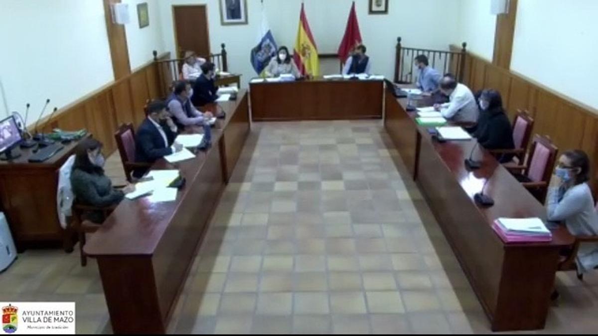 Pleno del Ayuntamiento de Villa de Mazo.