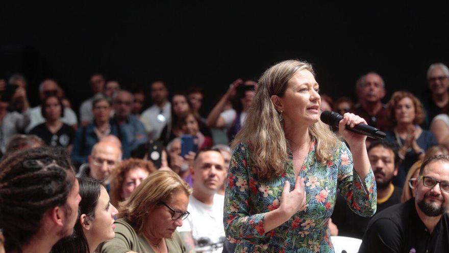 Victoria Rosell, durante un acto de Unidas Podemos