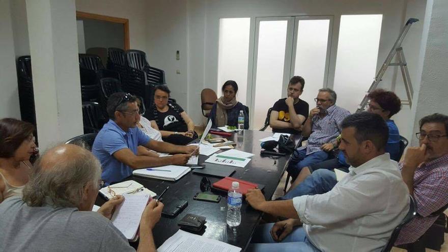 La coordinadora regional, reunida en Sevilla este sábado.