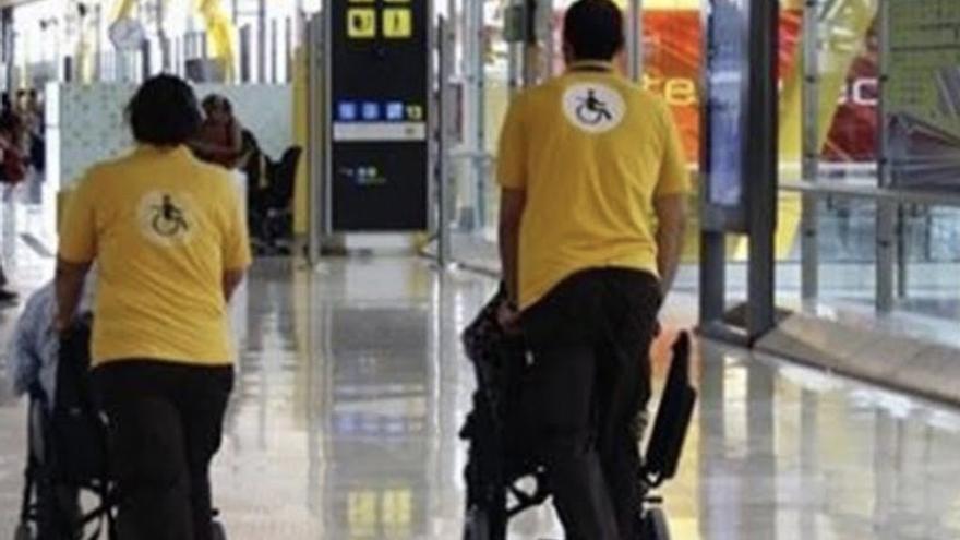 Servicio de asistencia a personas con movilidad reducida  de Aena, también denominado 'Sin Barreras'.