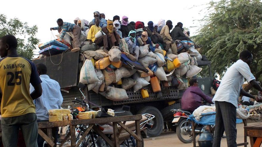 Migrantes en Niger esperan el viaje a través del Sahel © Ali Abdou