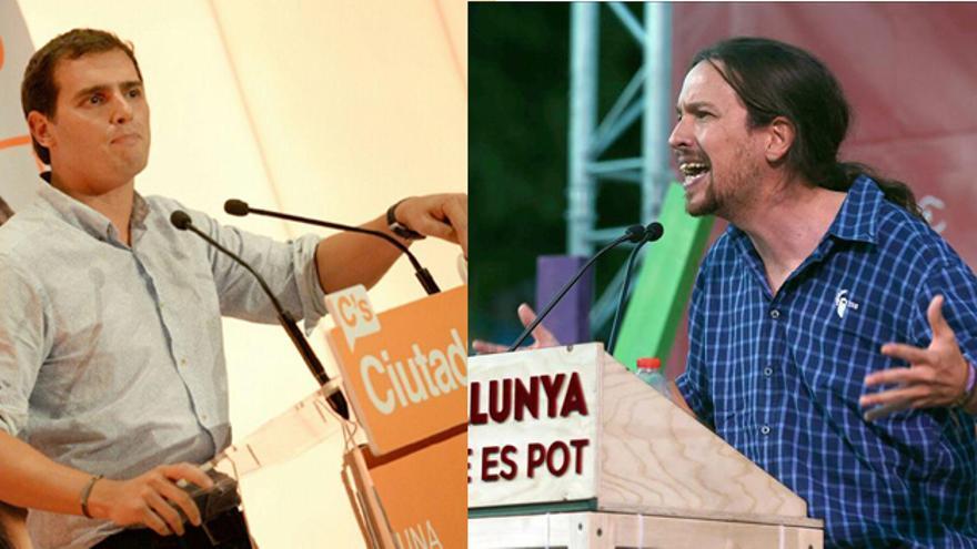 Albert Rivera y Pablo Iglesias se juegan en Cataluña la posición de salida hacia las generales